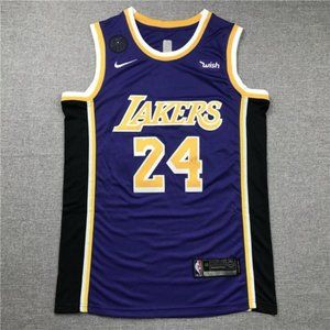 Men's Los Angeles Lakers #24 Kobe Purple Jersey